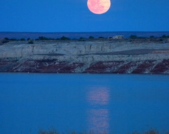 Full Moon over Lake Powell, Glen Canyon - 8x10 Fine Art Print