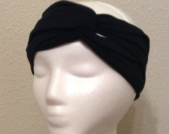 Black Turban Headband, Twist Turban, Turban Headwrap, Turban Headband, Fashion Accessories for Women, Women's Headband