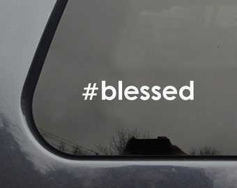 FREE SHIPPING hashtag blessed car sticker #blessed free shipping