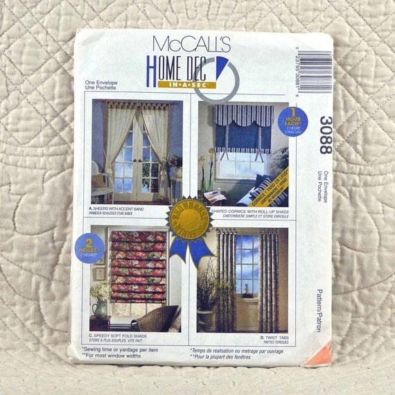 Window Treatments McCalls 3088 Home Decor By DartingDogCrafts