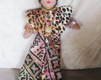 Nowa African Shaman, Voodoo Doll, Handmade,, African, Voodoo, Hoodoo, Conjure, Altar, Pagan,