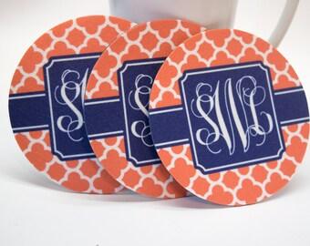 Rubber & Felt Coaster Set • Monogrammed, Design your own