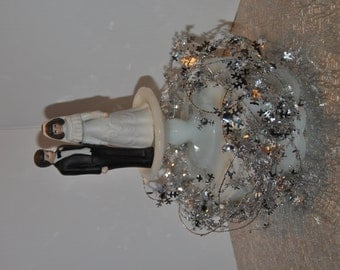Vintage Porcelain Bride and Groom