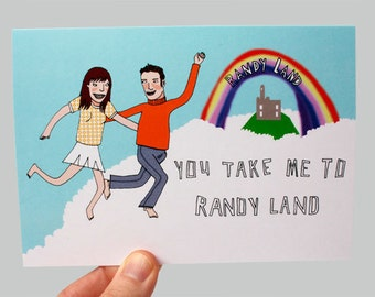 Funny Valentine Card - Love Card - Romanic Card - Valentines - Adult Valentine - Funny Card - Valentine Card - You Take Me To Randyland