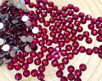 Ruby Swarovski Elements Crystals Flatback Non-Hotfix - SS5 to SS20