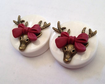 SALE Deer Bow Ear Plugs