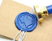 B20 Wax Seal Stamp Personalized Custom Your State Map
