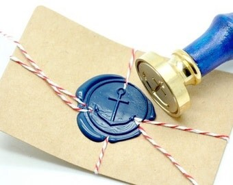 B20 Wax Seal Stamp Nautical Skinny Anchor