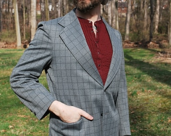 Windowpane Blazer, Mad Men Style