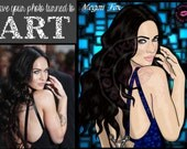 PHOTO TO ART Digital Drawing from your Photo Commissioned Art Custom Portraits commission drawing illustration
