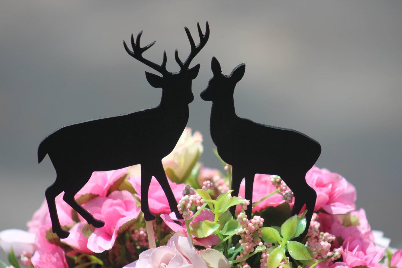Black Deer Wedding Cake Topper Rustic Country by WeddingPros