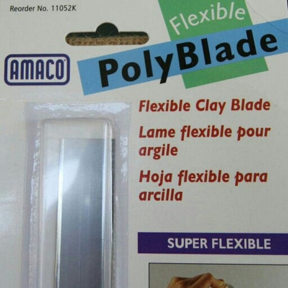amaco flexibe polyblade, super thin and super flexible blade is perfect for cutting polymer clay