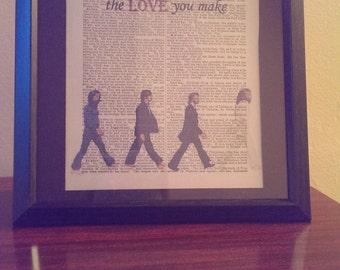 The Beatles- Antique Art Print (The End)