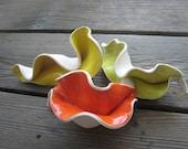 Neon Aquarium Decorations - Fish Tank Decorations - Ceramics and Pottery - Neon Sculptures - Bright Orange - Bright Yellow - Chartreuse