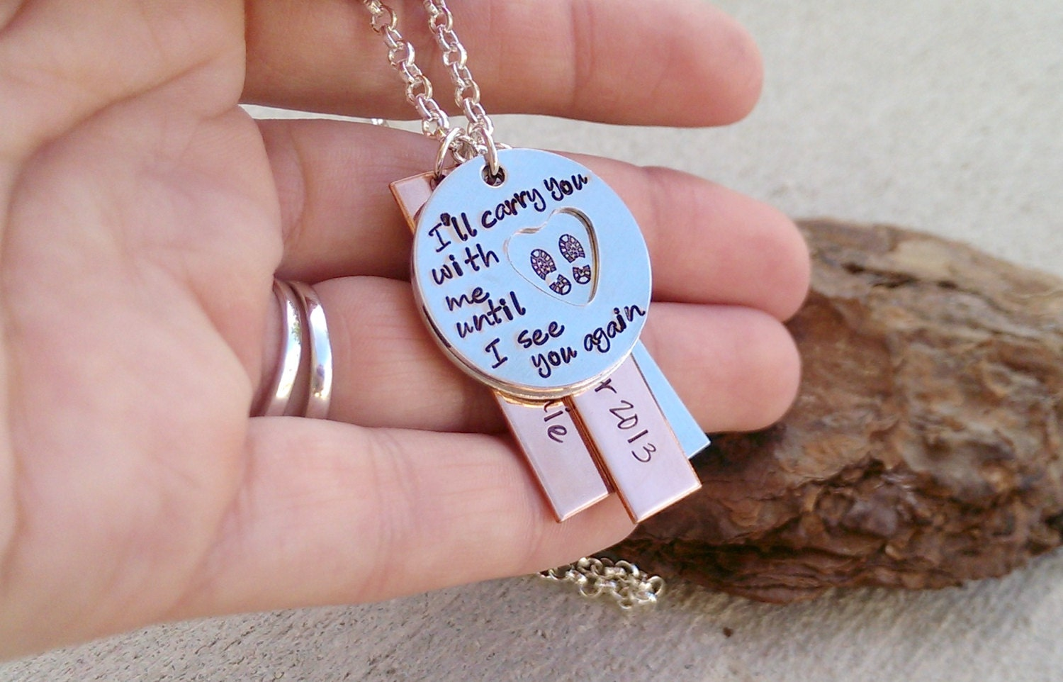 deployment necklace until i see you again marine wife