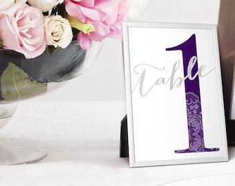 Wedding Table Numbers (Digital File)
