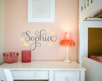 Name Decal -Teen Wall Nme Decal - Teen Girl Name Decals - Personalized Kids Decal - Children Monogram Decals - Nursery Girls Decal
