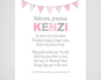 Girls Prayer PRINTABLE with butterflies. Personalized with