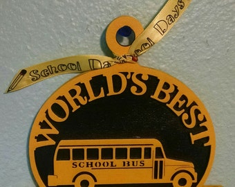 World's Best School Bus Driver Ornament/Christmas Ornament
