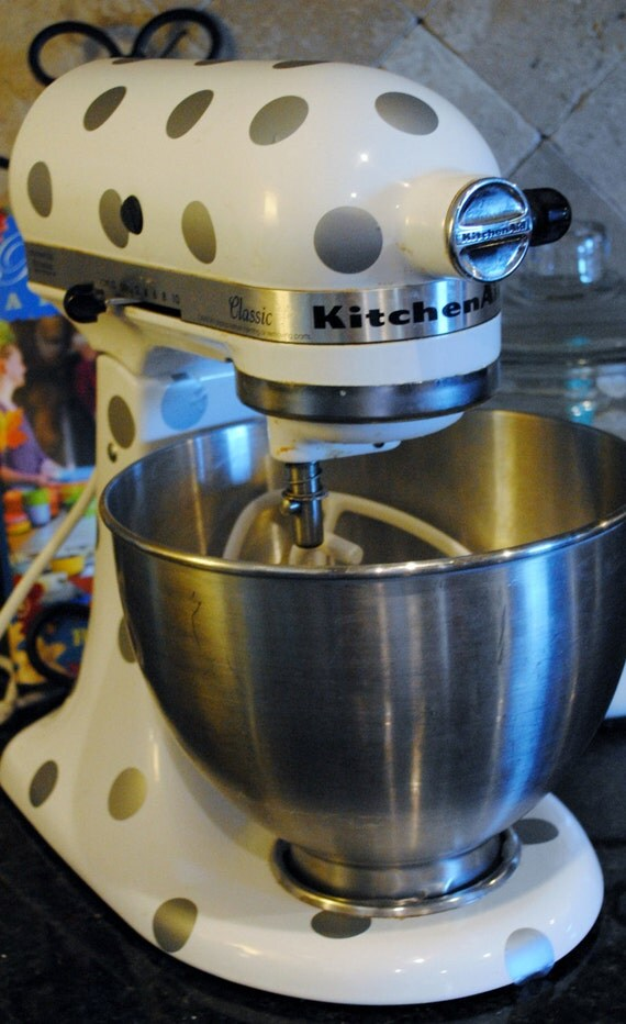 Kitchen Mixer Decals ~ Items similar to kitchen mixer decal polka dots on etsy