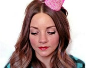 Pink Crown Glitter Crown Birthday Bride Bachelorette Engagement Photo Prop