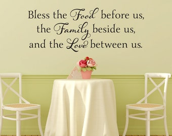 Prayer Wall Decal Etsy - Dining room vinyl wall quotes