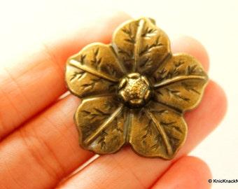 Flower Pendant Bronze Tone