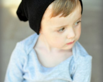 LITTLE MANS black,grey ,or navy slouchy hat