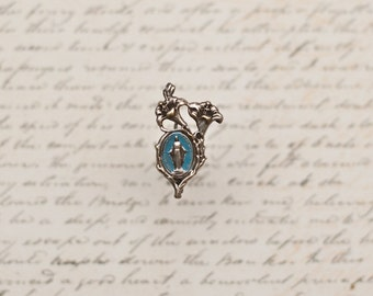 French catholic enamel brooch (050m)