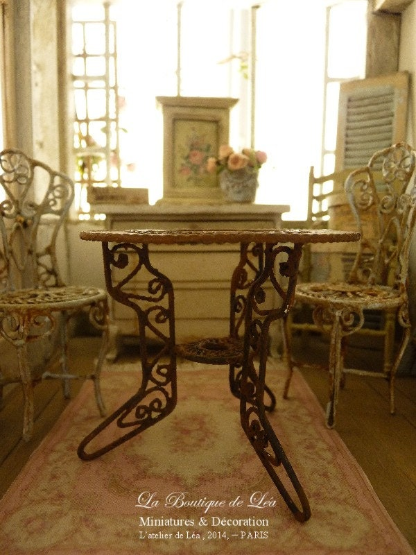 Conservatory Table Romantic Garden Rusty Metal Furniture For