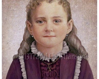 Saint Therese of Lisieux, the Little Flower  Art Print Catholic Patron Saint #4172