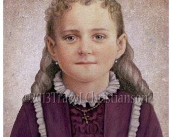 Saint Therese of Lisieux, the Little Flower  Art Print Catholic Patron Saint #4172