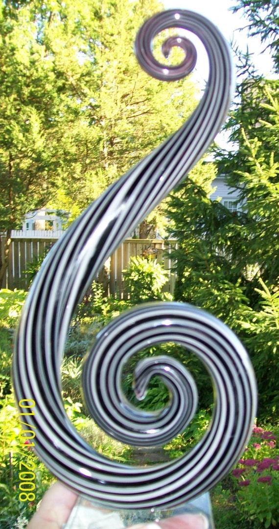 Murano Art Deco Treble Clef Italian Glass Collectable