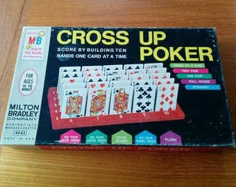 Cross Up Poker Vintage Game 99% Complete 1968