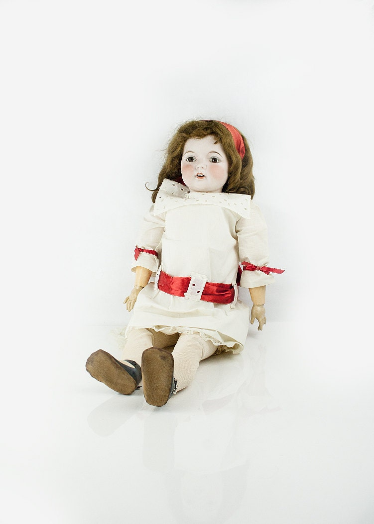 vintage bisque fulper doll with jointed body by sadrosetta