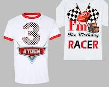 Disney Cars Birthday Shirt - Cars Birthday Shirt - Ringer Shirt
