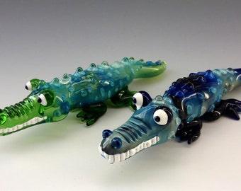 Crocodile Glass Tobacco Pipe - H*104