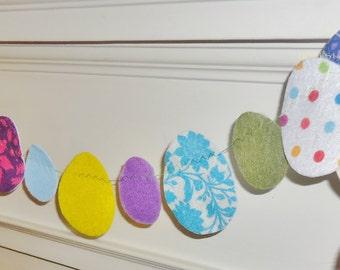 Mixed Felt Easter Egg Garland