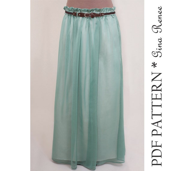 maxi skirt pattern womens skirt pattern maxi skirt pdf