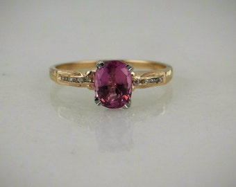 Pink Ceylon Sapphire Ring with Fine Diamonds 6HEKJX-N
