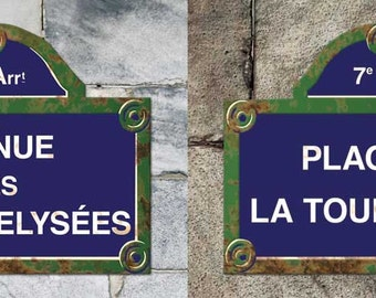 Paris Street Signs - blank cards and refrigerator magnets