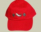 Fishing Cap, Salmon Embro...