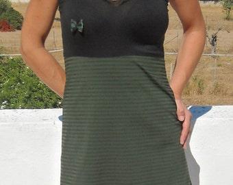 Mini black/green halter dress