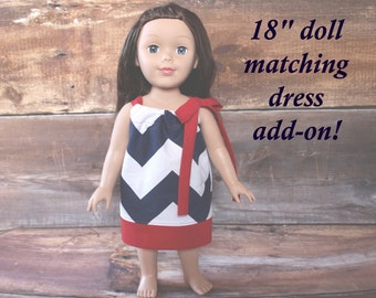 Doll Dress -Fits 18 inch doll like American Girl doll clothes 15 inch doll Easter gift birthday present gift Our Generation OG AG