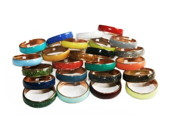 ASTAN Enameled rings // 28 different colors to wear!