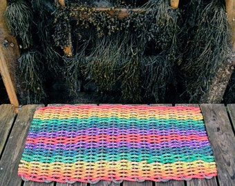 Recycled Lobster Rope Doormat, Handwoven in Maine: Cape Elizabeth