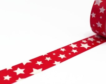 Star Washi Tape in Red and White - Starry Pattern Masking Tape