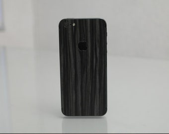 Black Wood Iphone skin for  4 - 4s - 5 - 5s