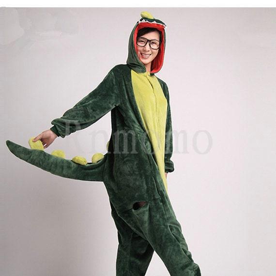 Adult Onesies Kigurumi Dinosaur Pajamas for Women Girls Men