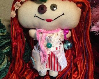 Handmade Shabby Charlotte Doll - Noella